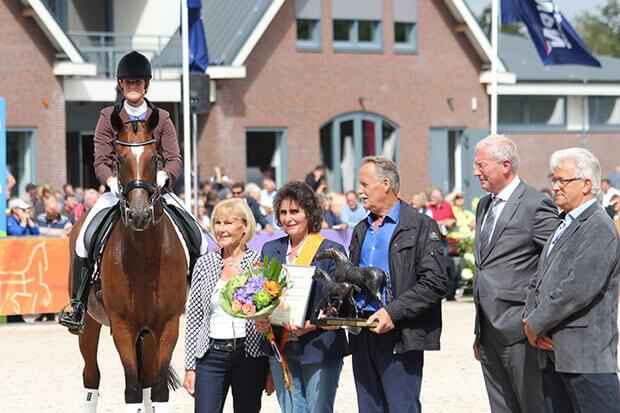 Maas and Marianne Hendriksen are being honored as breeder of the year 2016 KWPN dressage horses.